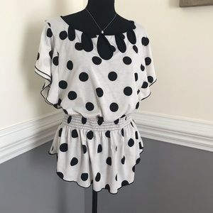 Polka dot top blouse